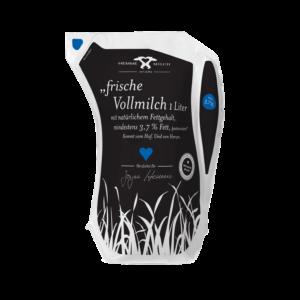 Frische Vollmilch mit natürlichem Fettgehalt, mind. 3,7 % Fett, pasteurisiert